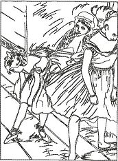 The Dancing Class by Edgar Degas Coloring Page