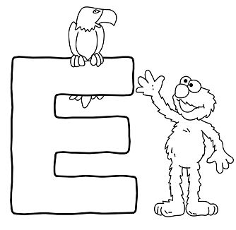 The E For Eagle Coloring Page