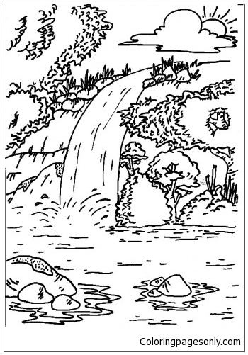 The End Of The River Coloring Page