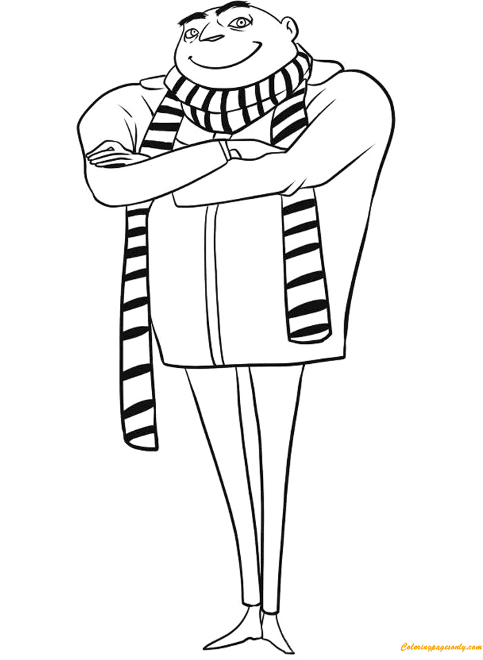 The Evil Gru Coloring Page
