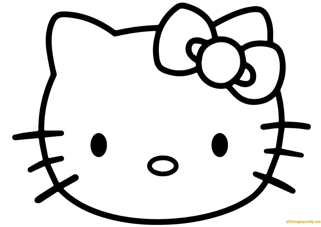 The Face Of Hello Kitty Coloring