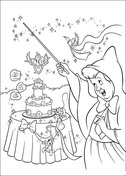 The Fairy Makes A Wedding Cake  from Cinderella