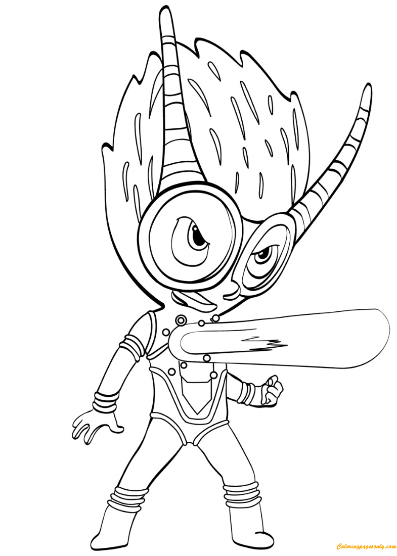 The Firefly Villain From PJ Masks Coloring Page