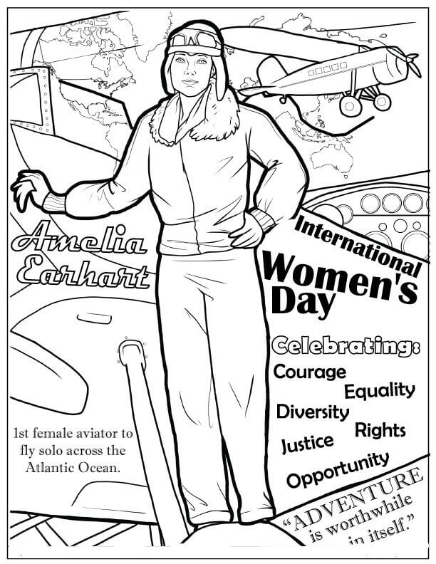 The first woman pilot in the world Coloring Page