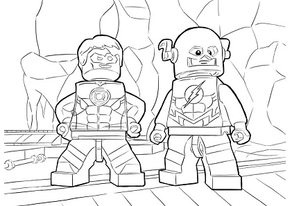 The Flash Characters Lego Coloring Page