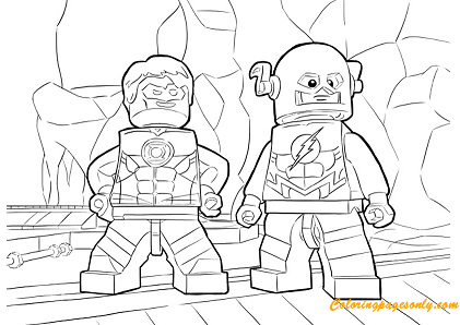 The Flash Characters Lego Coloring