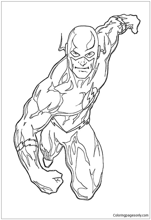 The Flash Coloring Pages Superhero Coloring Pages Free Printable Coloring Pages Online