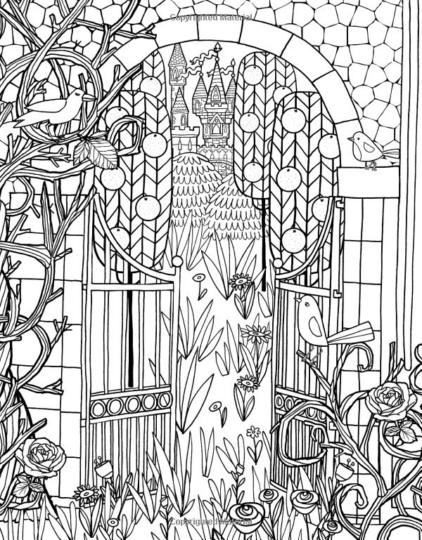 The gate Coloring Page