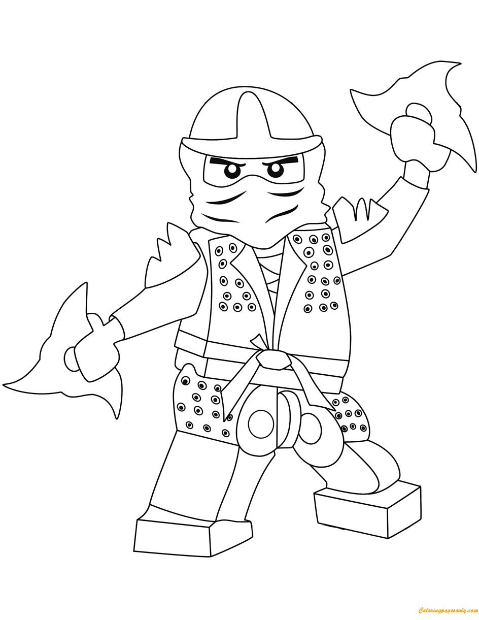 the green ninja lego ninjago coloring page - free coloring
