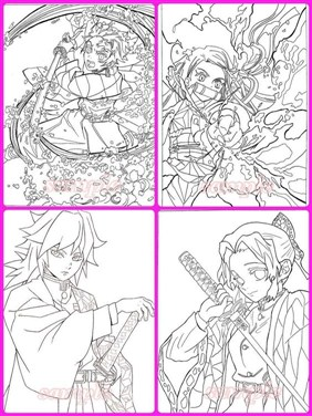 The Heroes In Demon Slayer Coloring Page