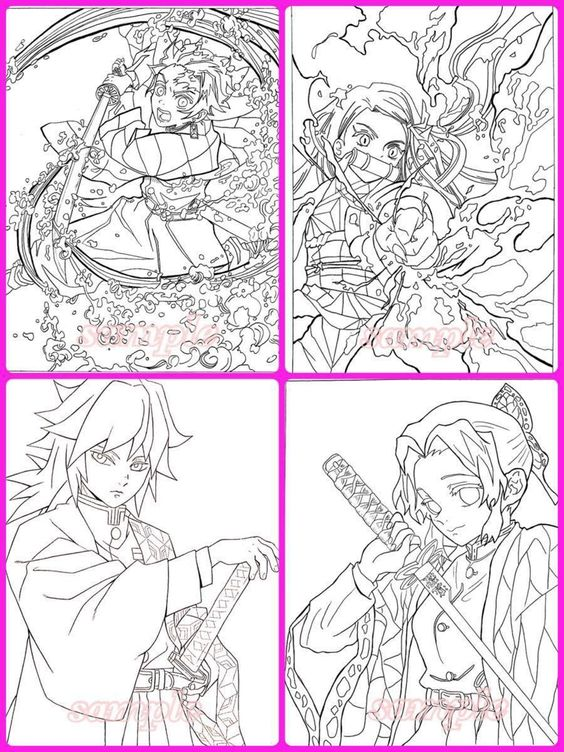The Heroes In Demon Slayer Coloring Pages Demon Slayer Coloring Pages Free Printable Coloring Pages Online