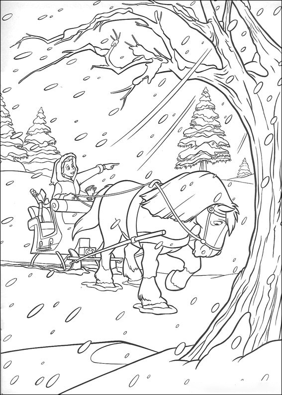 Snow Storm Coloring Page