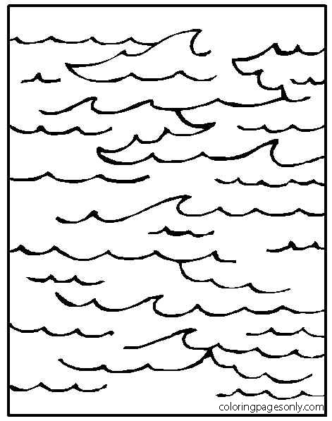The huge ocean Coloring Page