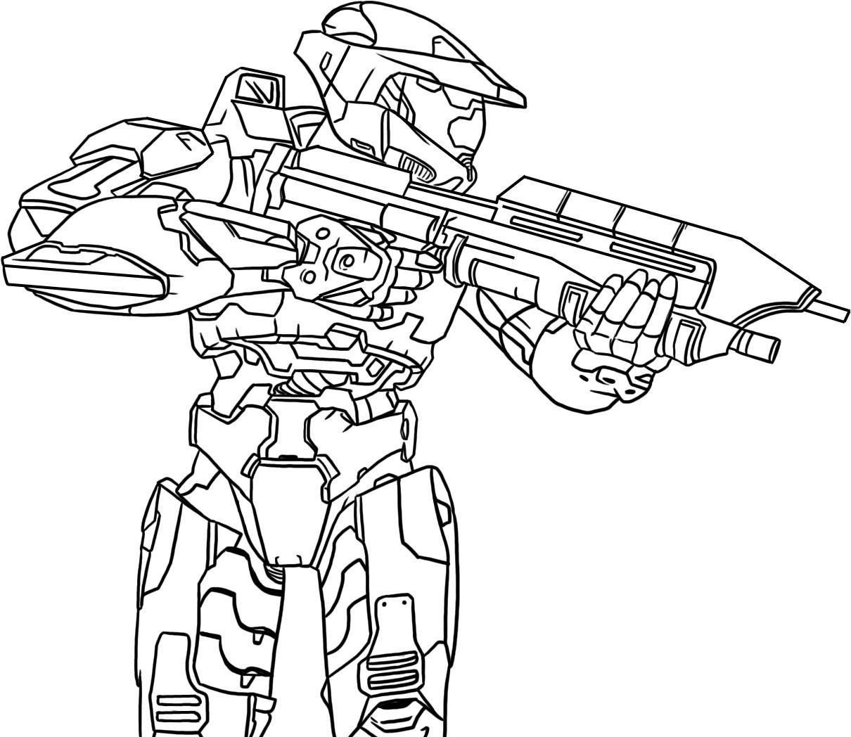 the knight halo - Halo Coloring Pages
