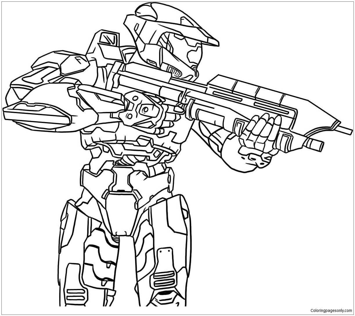The Knight Halo Coloring Page - Free Coloring Pages Online
