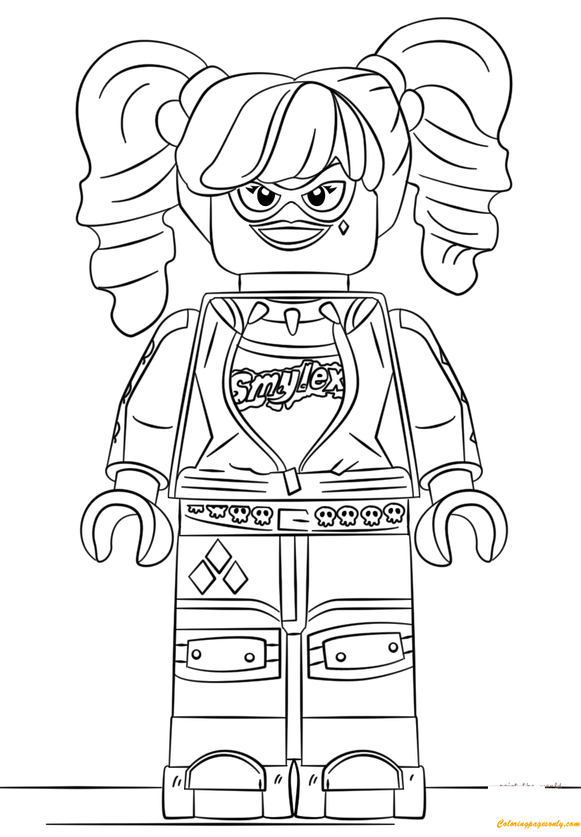the lego batman harley quinn coloring page - Harley Quinn Coloring Pages