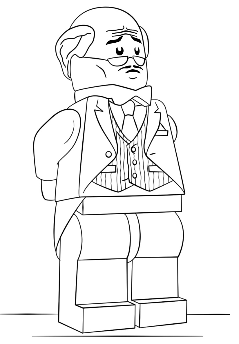 The Lego Batman Movie Alfred Pennyworth Coloring Page