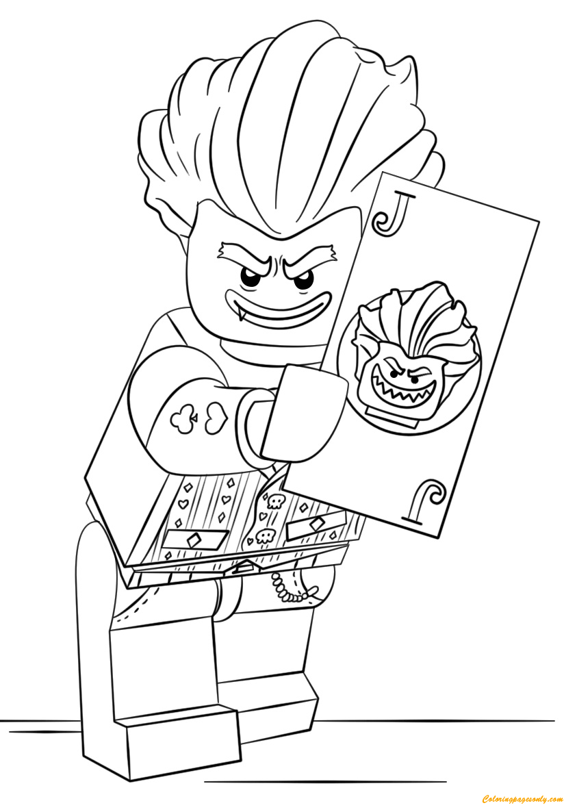 The lego batman movie arkham asylum joker coloring page for Batman lego movie coloring pages