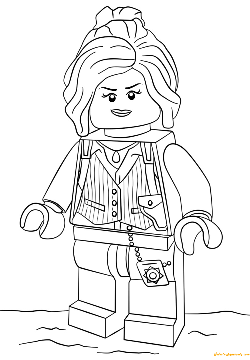 The Lego Batman Movie Barbara Gordon Coloring Page - Free ...