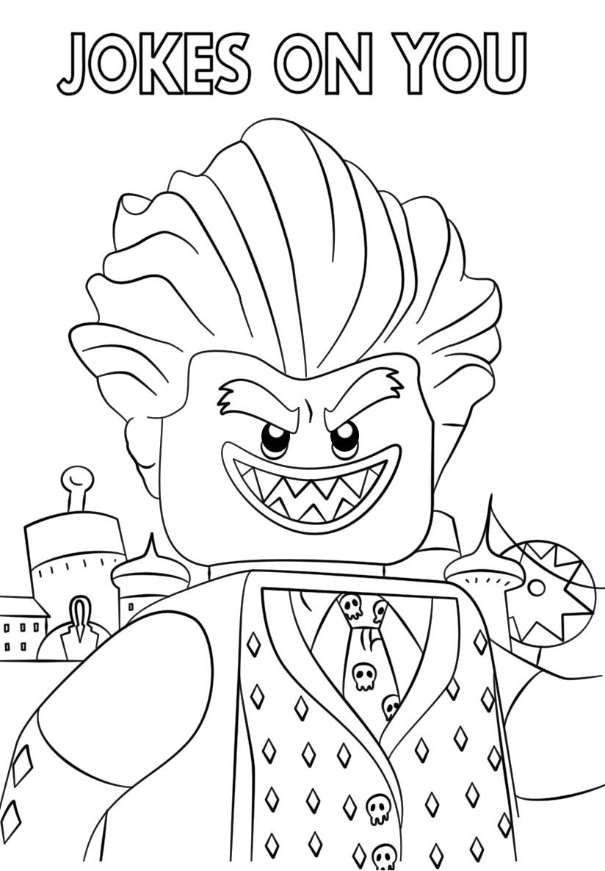 The LEGO Batman Movie Jocker Coloring Page