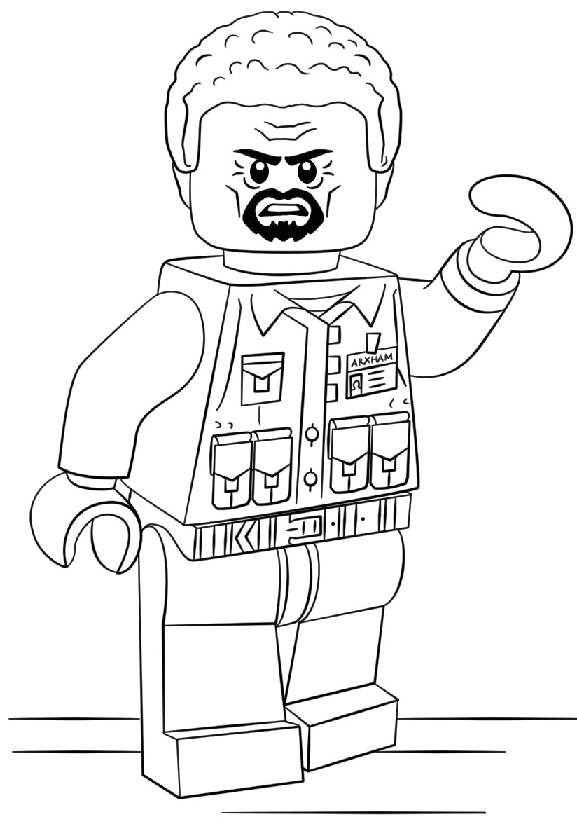 Lego Emmet Coloring Page Free Coloring Pages Online