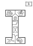 The Letter I Puzzle Coloring Page