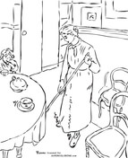 The Little Country Maid By Camille Pissarro Coloring Page
