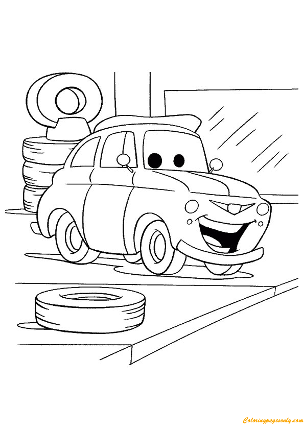 The Luigi  Coloring Page