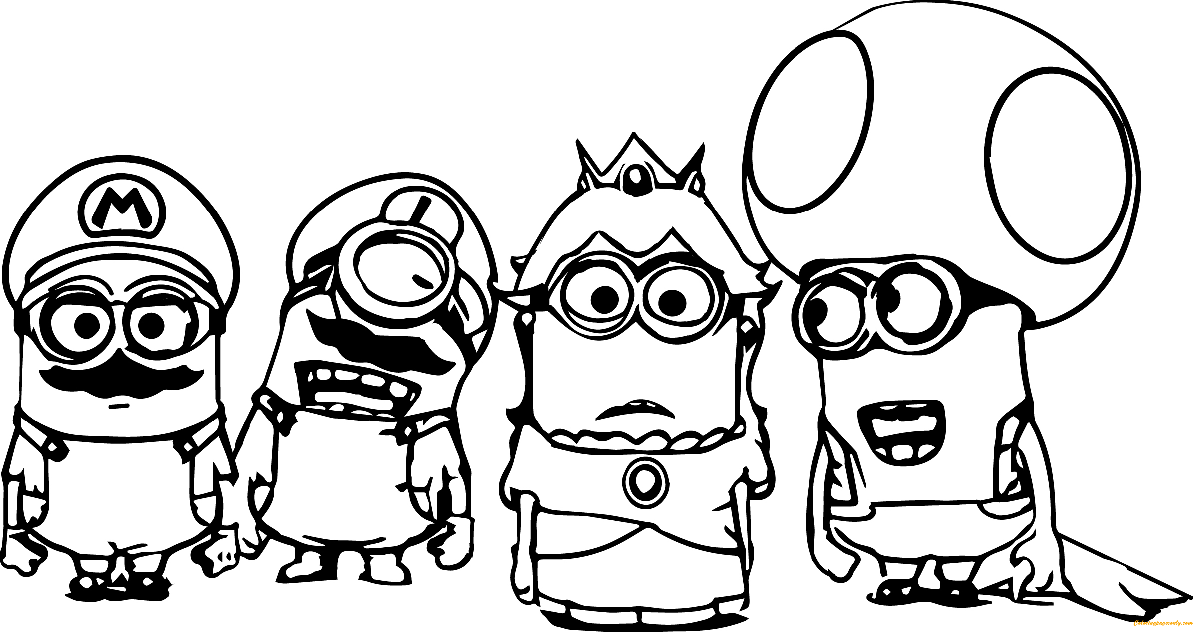 The Minions Coloring Page