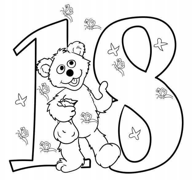 The Number 18 Baby Bear