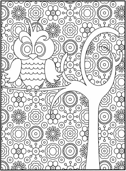 The Owl and the Tree Coloring Page