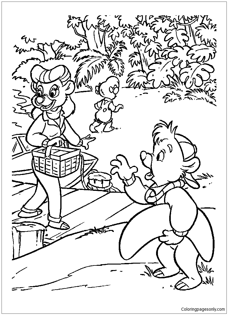 The Picnic Coloring Pages Nature Seasons Coloring Pages Free Printable Coloring Pages Online