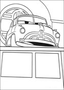 Doc Hudson from Disney Cars Coloring Page
