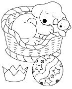 The Pup Taking A Nap Puppy Coloring Page