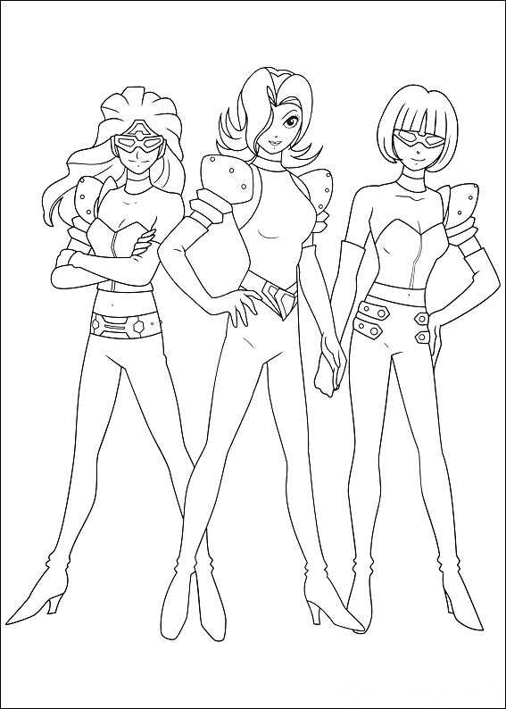 The Repo Girls in Astro Boy Animation Film Coloring Page