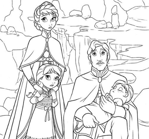 The Royal Family Coloring Page