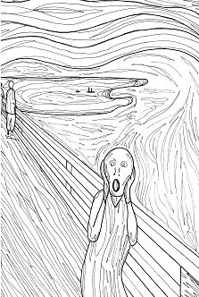 The Scream Munch Pauline Coloring Page