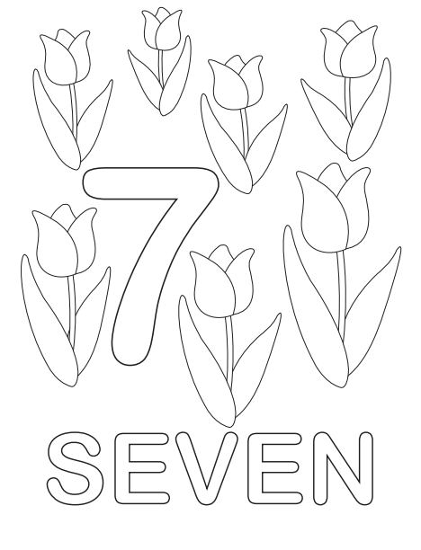 The Seven Flowers Coloring Page
