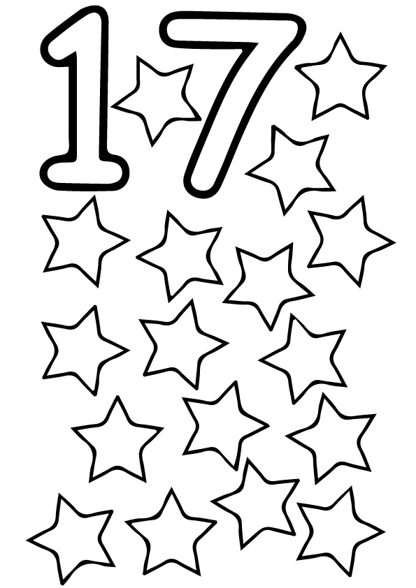 The Seventeen Stars Coloring Page