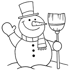The Snowman Coloring Page