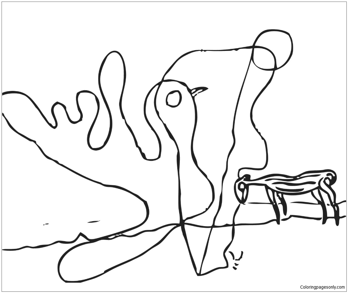 The Spectral Cow By Salvador Dali Coloring Pages