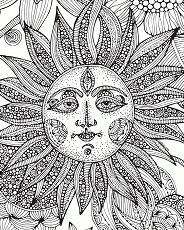The Sunflower Coloring Page