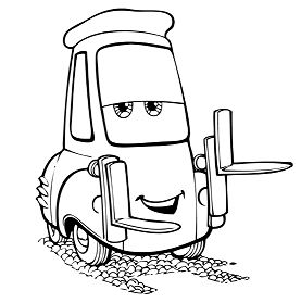 The Tow Mater Cars Coloring Page
