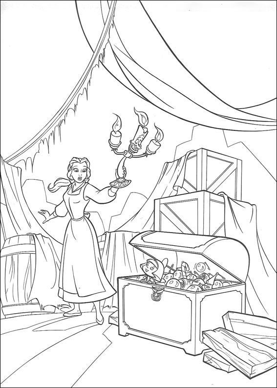 The treasure of Belle Coloring Page