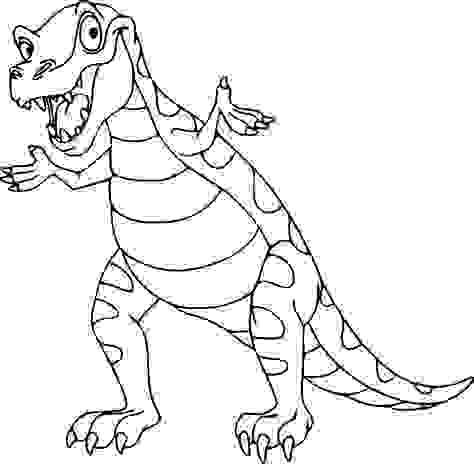 The Tyrannosaurus rex smiling Coloring Page
