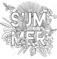 The Word Summer Coloring Page