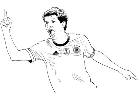 Thomas Muller-image 2 Coloring Page