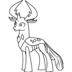 Thorax from My Little Pony Coloring Page