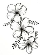 Three Flowers Coloring Page
