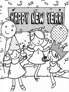 Three Kids Celebrating New Year With A Party